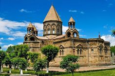 The Etchmiadzin Cathedral is the oldest state-built church in the world. The original vaulted basilica was built in 301-303 by Saint Gregory the Illuminator when Armenia became the first officially Christian country in the world.