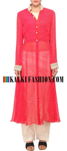 Buy Online from the link below. We ship worldwide (Free Shipping over US$100) http://www.kalkifashion.com/red-leheriya-suit-embellished-in-pearl-and-stone-embroidery-only-on-kalki.html