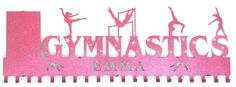 Gymnast Medal Awards Rack: Personalized Gymnastics Medals Holder: Gymnastics Medals hanger