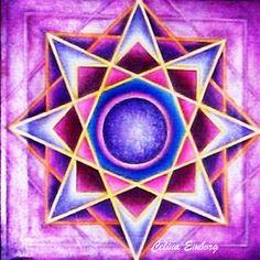 #Mandala estrella. #Crop circle. #pintura . #Taller de mandalas #Celina Emborg