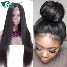 Silky Straight Human Hair Wigs Virgin Brazilian Hair Full Lace Wig & Lace Front Wig For Black Women Full Lace Human Hair Wigs-in Human Wigs from Health & Beauty on Aliexpress.com | Alibaba Group