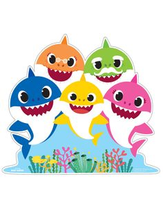 Baby Shark Family Standup Source by Wild One Birthday Party, Birthday Party Themes, 2nd Birthday, Baby Party, Shark Face Painting, Shark Birthday Cakes, Decoration Evenementielle, Decorations, Shark Pictures