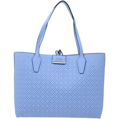 Guess Handbag (2.350 CZK) ❤ liked on Polyvore featuring bags, handbags, blue, blue handbags, logo bags, guess bags, purse bag and hand bags