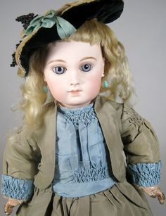 Second Series Portrait Jumeau Antique Bebe Doll from victoriasdollhouse on Ruby Lane