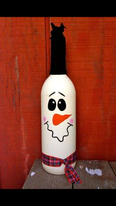 Bottle snow man