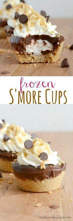 Frozen S'mores Cups
