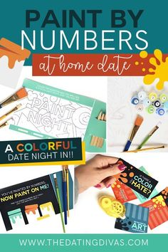 Easy at home date night idea- have a paint night with adult paint by numbers! this is so fun and easy! Date Night Ideas For Married Couples, Romantic Date Night Ideas, Romantic Dates, Romantic Gifts, Romance Tips, Romance Quotes, True Romance, Romance Movies, Bed Romance