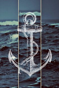 Anchor in the waves