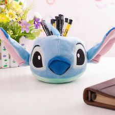 Lovely Disney Character Blue Stitch Pencil Holder Case Plush Collectibles 5''New