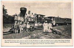 B-O-RR-Fair-Great-Northern-Iron-Horse-Train-Blackfeet-Indians-Postcard