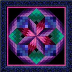 Rolling Star Quilt Kits 3 colors to choose from Lone Star Quilt Pattern, Bargello Quilt Patterns, Bargello Quilts, Barn Quilt Patterns, Quilting Patterns, 3d Quilts, Star Quilts, Quilting Projects, Quilting Designs