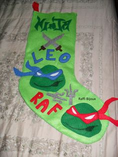 calza della befana personalizzata in pannolenci interamente fatta a mano