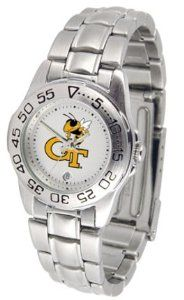 Georgia Tech Yellow Jackets Gameday Sport Ladies' Watch with a Metal Band SunTime. $53.64