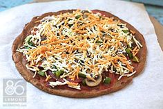 Easy Vegan/GF Pizza Crust 86lemons.com