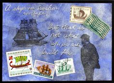 Postage stamps are a great addition to your rubber stamp art. I have a lot of postage stamps from all over the world, many that I collected as a kid. They never had much monetary value, but I think… Postage Stamps, Blessings, Blessed, Fine Art, Projects, Fun, Fin Fun, Blue Prints, Stamps