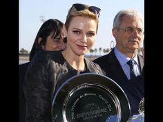 Princess Charlene of Monaco attended the Prix Princesse Charlène de Mona...