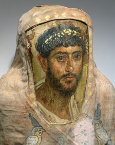 Fayum great portrait painted by the 1st to the 3rd century by followers of the late Hellenistic tradition of the Alexandrian School