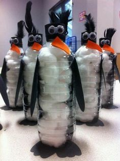 Water Bottle Penguins I did this lesson plan at self