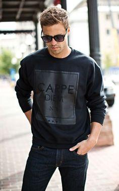 man style sweatshirt/ sweatshirt man/ homem estilo moletom/moletom masculino/moda homens/moletom/moda masculina/ fashion for men Mode Masculine, Urban Fashion, Mens Fashion, Style Fashion, Fashion Shirts, Fashion Menswear, Office Fashion, Fashion Styles, Fashion Fashion