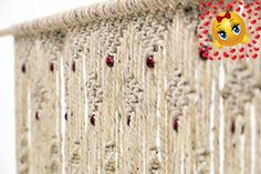 #home This #hand woven macrame door hanging is intricate, original and just what you're looking for! It measures 30 inches wide by 80 inches long and fits into m...