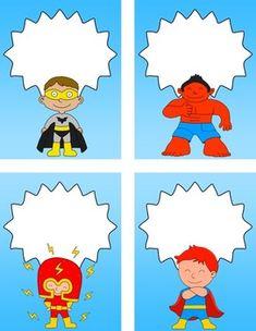 Back to School - Superhero Editable Labels Back To School Superhero, Classroom Jobs, School Items, Kids Rugs, Templates, Night, Ideas, Clothes Racks, Superheroes