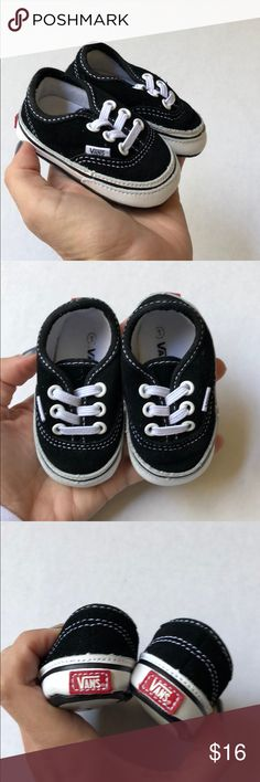 4e99d729e2 Shop Kids  Vans Black White size Baby   Walker at a discounted price at  Poshmark.