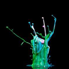 Incríveis fotografias de alta velocidade feitas com música 02