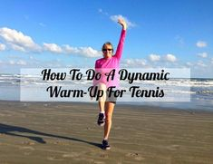 """The latest episode of the Tennis Quick Tips podcast is now available! In this week's episode, """"How To Do A Dynamic Warm-Up For Tennis,"""" you'll learn how to do a quick and easy dynamic warm-up that . Tennis Serve, Tennis Match, Tennis Bags, Tennis Clothes, Tennis Gear, Tennis Techniques, Tennis Rules, How To Play Tennis, Dynamic Warm Up"""