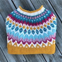 1 madebysunni's colorful Riddari sweater, a stranded colorwork yoke pullover knit in Garnstudio DROPS Nepal. Sweater knitting pattern: Riddari by Védís Jónsdóttir. knitting to give you a better service we recommend you to… Read Shawl Patterns, Sweater Knitting Patterns, Crochet Patterns, Fall Knitting, Knitting Yarn, Style Norvégien, Knitting Projects, Yarn Projects, Crochet Baby