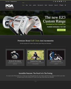 Pga Golf Wordpress website design