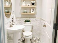 36 New Ideas For Small Bathroom Storage Modern Powder Rooms Powder Room Decor, Powder Room Design, Powder Room Storage, Bathroom Interior, Modern Bathroom, Bathroom Ideas, Shared Bathroom, Bathroom Black, Bathroom Renovations