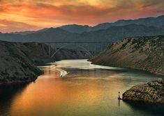 """ Maslenica bridge, by Bartosz Kwiecien "" Perfect World, Amazing Pics, World's Biggest, Serenity, Photo Galleries, Waterfall, River, Explore, Places"