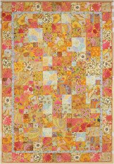 "Free pattern download, ""Yellow Potpourri"" by Kaffe Fassett, Melanie Falick Books"