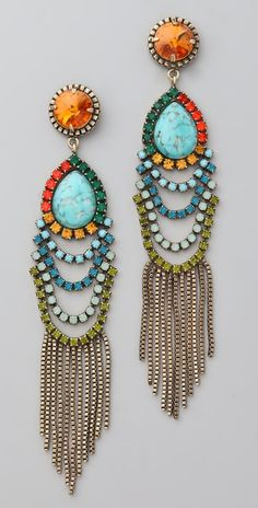 "DANNIJO Valerija Earrings 4.75 "" long Turquoise is plastic according to site reviewer"