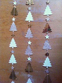 Christmas Origami, Christmas Paper Crafts, Christmas Swags, Handmade Christmas Decorations, Xmas Decorations, Christmas Art, Christmas Projects, Christmas Ornaments, Theme Noel
