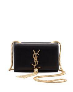 SO PRETTY! Cassandre Small Tassel Crossbody Bag, Black by Saint Laurent at Bergdorf Goodman.