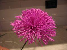 Dalla A allo Zucchero: Fiori di carta crespa: come fare una dalia fiore d...