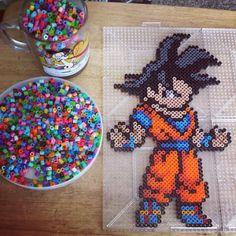 Goku Dragon Ball perler beads by the_nerdy_girl_crafter