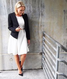 Mixing up the usual fitted corporate look for something a little more relaxed with this beautiful white a-line dress from @littlepartydress ❤️ Throw on a blazer and add a belt for a complete work ready outfit! TCG xo  Blazer: @topshop_au  Shoes: @witcheryfashion  #littlepartydress #whitedress #blazer #topshop #witchery #corporatefashion #corporatestyle #workwear #whatiwore #everydaystyle #ootd #fashionblogger #brisbaneblogger #blogger  #workfashion #citystyle #SYAW16 #workchic #businesswoman…