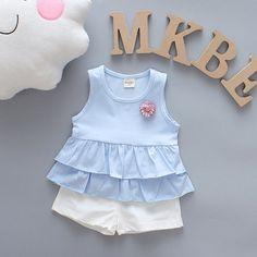 image Baby Girl Frocks, Frocks For Girls, Kids Frocks, Kids Outfits Girls, Little Girl Dresses, Girl Outfits, Girls Dresses, Kids Girls, Baby Girls