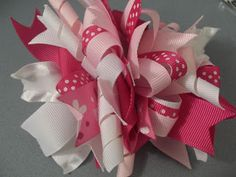 How to make a funky loopy bow with Think Bowtique