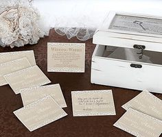 The Lillian Rose Country Lace Guest Cards will let you start a new guest book wedding tradition. Your wedding guests will be able to write down wedding wishes, happy memories or share advice on these beautifully designed cards. Tie The Knot Wedding, The Wedding Date, Wedding Guest Book, On Your Wedding Day, Wedding Couples, Lace Wedding, Elegant Wedding, Wedding Advice Cards, Wedding Cards