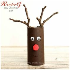 Arty Crafty Kids - Seasonal - Paper tube Rudolf Christmas Craft