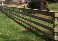 wooden horse fences with wire - Google Search