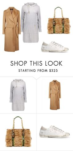 """""""Camel"""" by nenzie ❤ liked on Polyvore featuring Jaeger, Longchamp and Golden Goose"""