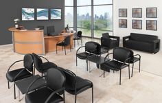 You can create your entire waiting area with OFM reception stations, guest chairs, lounge seating, and side tables all with a designer look! http://www.ofminc.com/manor-series-4-legged-stack-chair-with-vinyl-seat-and-back-ofm-model-404-vam
