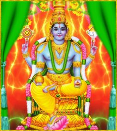 """☀ SHRI DHANVANTARI ॐ ☀""""The Lord in His  incarnation of Dhanvantari very quickly cures the diseases of the  ever-diseased living entities simply by his fame personified, and only  because of him do the demigods achieve long lives. Thus the Personality  of Godhead becomes ever glorified. He also exacted a share from the  sacrifices, and it is he only who inaugurated the medical science or the  knowledge of medicine in the universe.""""~Srimad Bhagavatam 2.7.21"""