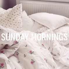 Lazy days in bed. Sunday mornings