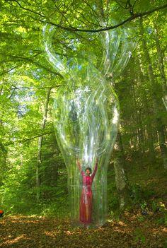 performance art meets inflated sculptures by victorine müller | designboom