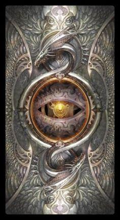 Back Image of Barbieri Tarot 1 Tarot Card Decks, Tarot Cards, Wiccan Spells, Witchcraft, Cross Art, Medieval, Occult Art, Italian Artist, Dark Fantasy Art